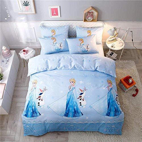 Wzhfsq Juego de cama reversible de 3 piezas, diseño de anime de dibujos animados de 135 x 200 cm, funda de edredón de microfibra lavada de lujo para niños, adultos y jóvenes, cuidado suave