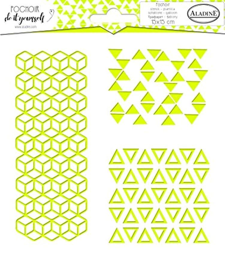 Aladine 81060 Square Stencil DIY Trio Geometric 2