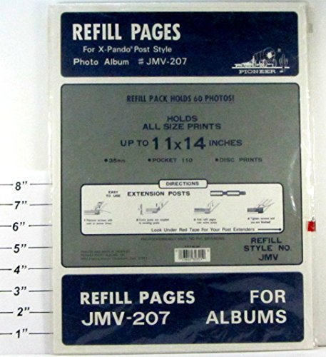 Pioneer Refill Pages for JMV-207 Albums - For X-Pando Post Style
