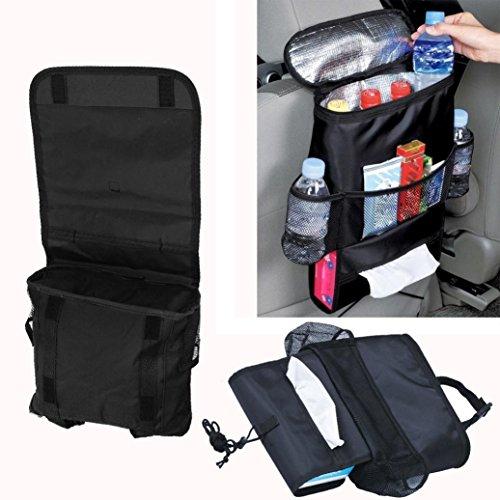 Hunpta Organiseur de siège arrière de voiture multi-poches à suspendre - Housse de protection pour sièges arrière de voiture - Noir