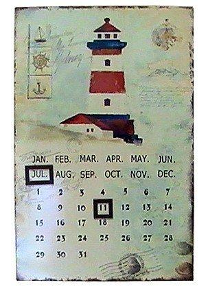 wattkiste Vintage Blechkalender Leuchtturm