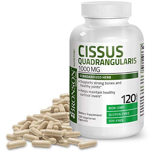 Bronson Cissus Quadrangularis Extract 1000 mg Capsules - Strong Bones & Healthy Joints - Non-GMO, 120 Vegetarian Capsules