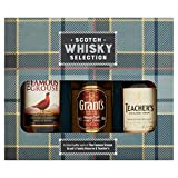 Tartan Scotch Whisky Selection - Famous Grouse, Grant's & Teachers Whisky 3 x 5cl