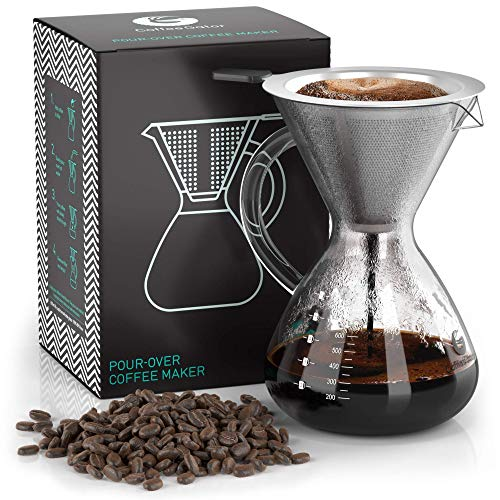 Pour Over Coffee Maker For Perfect Hand Drip Coffee -...