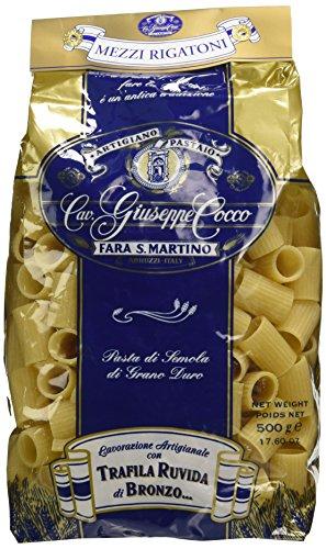 Artigiano Pastaio Formato Mezzi Rigatoni N.46 Cavalier Giuseppe Cocco Fara San Martino Abruzzo - 500 g