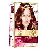 L'Oréal Paris - Excellence Crème - Coloration Permanente Triple Soin 100% Couverture Cheveux Blancs - Nuance 6,54 Acajou Cuivré
