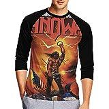 Manowar Kings of Metal Men's 3D All Print Graphic 3/4 Sleeve T-Shirt XL Black