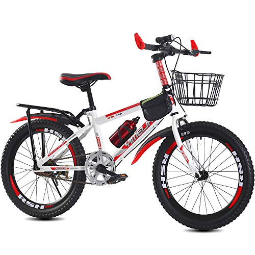 Kinderfahrrad für Jungen und Mädchen ab 8-15 Jahre   20/22/24 Zoll Kinderrad mit Bremse   Fahrrad für Kinder   Mountainbike Jugendfahrrad (Rot und weiß,24)