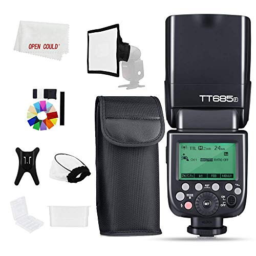 Godox TT685F 1/8000s HSS GN TTL Speedlite Flash Built-in Godox 2,4G Receiver Compatible with Godox X System for Fuji X-T20 X-T2 X-T1 X-T10 X-E1 X-A3(TT685F for Fuji)