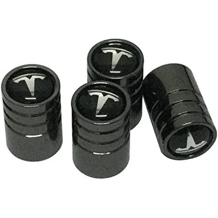 Universal Car Wheel Tire Valve Stems Caps Wrench Keychain Logo For Tesla 3 S X