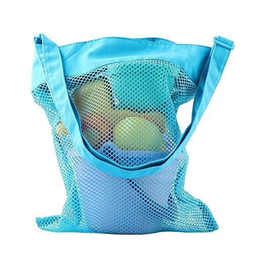 ele ELEOPTION Sandspielzeug Netztasche,Aufbewahrung Netz Tasche für Strandspielzeuge,Aufbewahrungstasche für Happy Sand Spielset Wasserspielzeug (Blaue Netztasche)