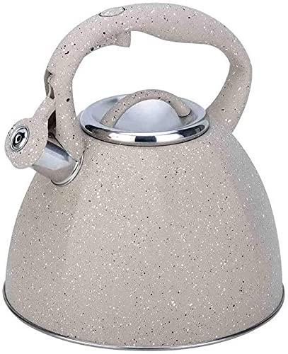 Hervidor de agua con silbato, Teteras modernas de fogones | Tetera de silbidos de acero inoxidable de 3.7 litros | Adecuado para todas las fuentes de calor Hervidor de agua de inducción (Color : C)
