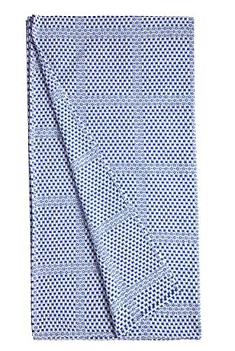 BOHORIA® Premium Tagesdecke Mediterranean Cottage | 100prozent Baumwolle | Oeko-Tex® | Bettüberwurf Wohndecke Picknickdecke Wendedecke Sofadecke mit Muster | extra-groß 210 x 240cm (Ocean Blue)