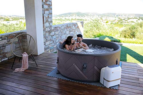 SHATCHI-MSPA-Concept-Mono-DWF-Bubble-Spa-6-Bathers-Portable-Quick-Heating-Self-Inflated-Round-Hot-Tub-930-litres-173m-x-65cm-BlackRose-Gold