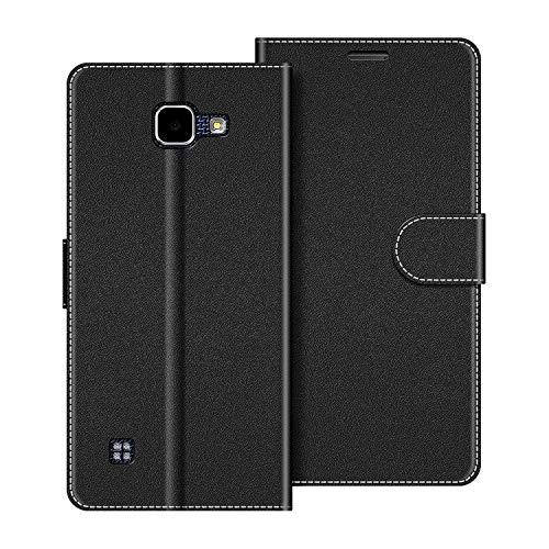 COODIO Handyhülle für LG K4 2016 Handy Hülle, LG K4 2016 Hülle Leder Handytasche für LG K4 2016 Klapphülle Tasche, Schwarz