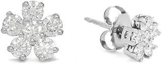Harrcourt Jewels Women's 18K White Gold Round-Cut Diamond Earrings, One Size