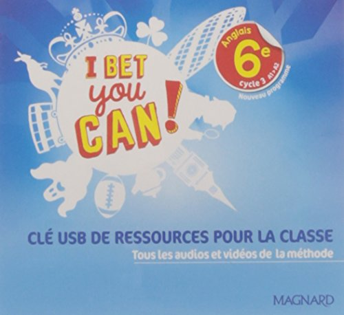 I Bet You Can! 6e (2017) - Clé USB ressources classe