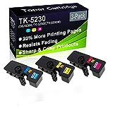 Cartucho de tóner de impresora láser Ecosys M5521CDN (alta capacidad) compatible con cartuchos de tóner de impresora láser (3 unidades) para Kyocera TK5230 TK-5230 (TK-5230C TK-5230Y TK-5230M)