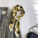 ZAMi Bufanda Linda Oveja Bufanda Cuadrada pequeña Primavera Femenina Bufanda Multifuncional Bufanda Decorativa Fina-Amarillo Mostaza