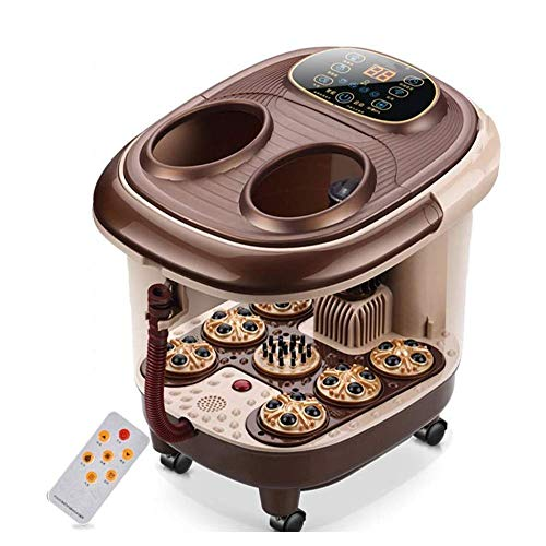 Review JJLL Foot Spa Bath Massager with Heat, Bubbles, 16 Pedicure Shiatsu Roller Massage Points, Fr...