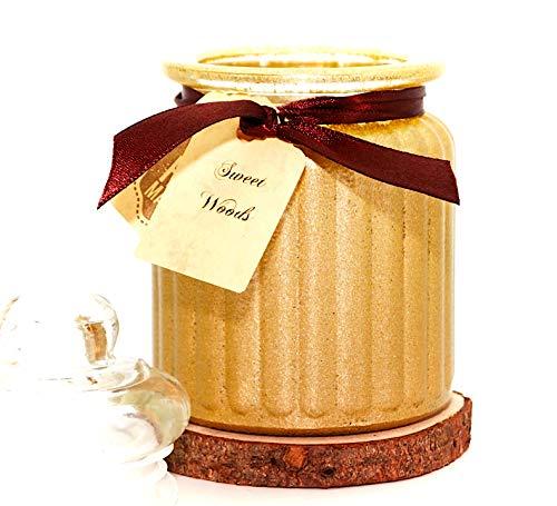 Lilygardencandles geurkaars Sweet Woods Sojawas kaars in antieke pot 230 g inhoud > 50 uur