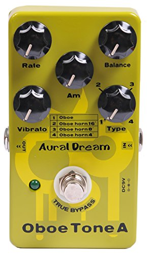 Aural Dream Oboe Tone A Synthesizer Guitar Effect Pedal includes Oboe,Oboe horn 16',Oboe horn 8' and Oboe horn 4' with Vibrato and Rotary modules,True Bypass.