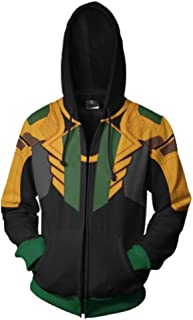 Loki Hoodie T-Shirt for Adult Men Cosplay Costume