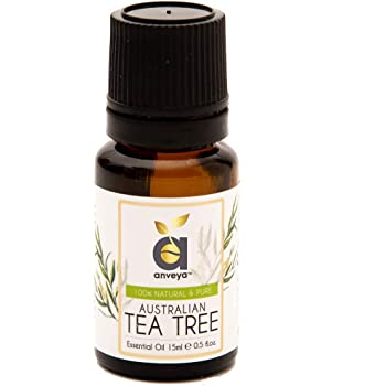 Anveya Australian Tea Tree Essential Oil, 100% Natural & Pure, 15ml, for Acne, Pimples, Scars, Skin, Face, Hair care & Dandruff