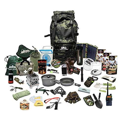 Prep Store Elite Plus - Emergency Survival Pack - 4 Day Food Supply - 96 Hour - Survival Kit - Bugout Bag - Hurricane Emergency Kit - Survival Bag - Bug Out Bag (Elite Plus KIT)