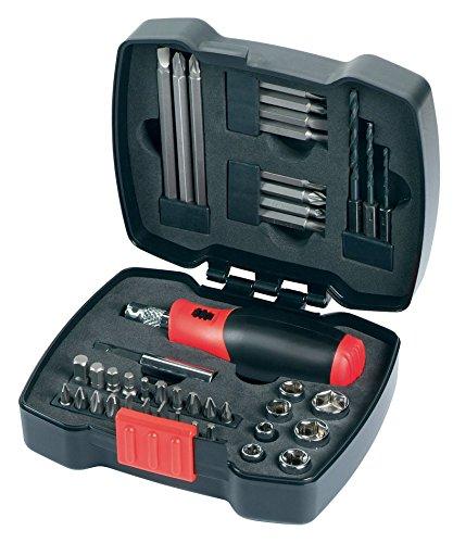 Black+Decker A7175-XJ Pack Piezas para atornillar con Atornillador de carraca, 43-Piece, Set