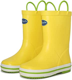 youth rain boots size 2