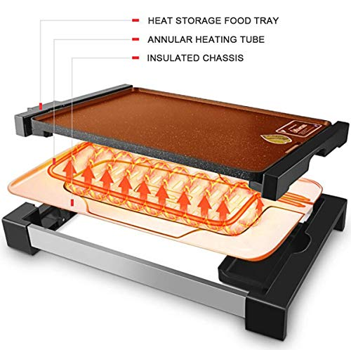 51h4yLTo02L - WJJJ BBQ Baking Tray Maifanshi Elektrischer Baking Pan Non-Stick Grill Tray Multi-Function Household Grill Tray Removable Washable