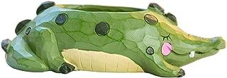 Vosarea Resin Animal Plant Pot Cartoon Alligator Succulent Planter Desktop Flowerpot Fairy Garden Decorations