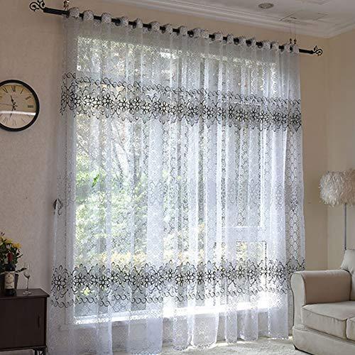 Bumpy Road Floral Modern Bedroom Sheer Vorhänge Tüll Vorhänge Vorhang für Wohnzimmer die Küche Voile Sheer Französisch Vorhänge auf dem Fenster
