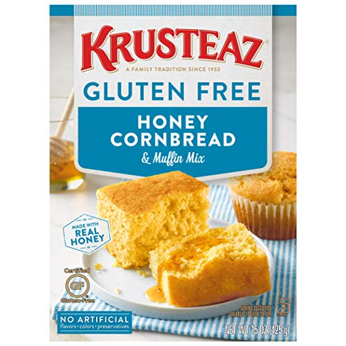 Krusteaz Gluten Free Honey Cornbread Mix 15Ounce Box