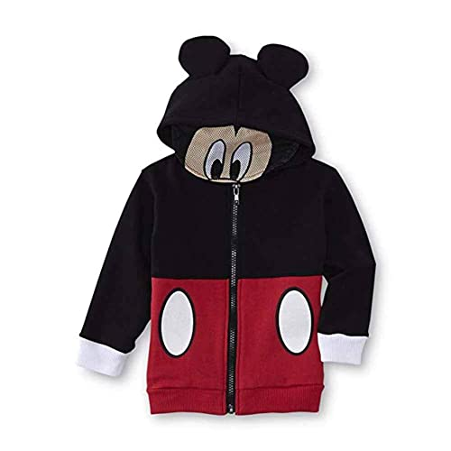 Disney Boys Mickey Mouse Fleece Hoodie with Mesh Mask