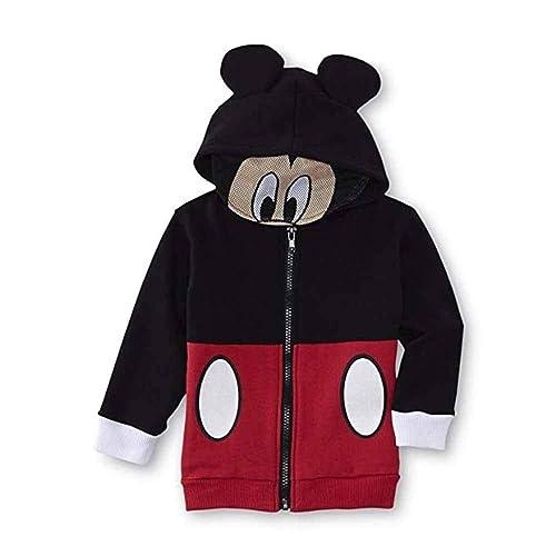 Disney Boys Mickey Mouse Fleece Hoodie with Mesh Mask