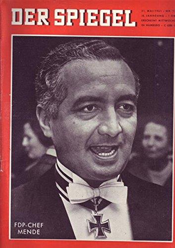 Der Spiegel Nr. 23/1961 31.05.1961 FDP-Chef Mende