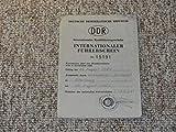 Internationaler Führerschein DDR