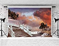 HDおとぎ話のテーマの背景パビリオンフラワーベッドリバーの背景結婚披露宴の写真撮影の背景写真スタジオの小道具の壁紙7x5ftFSGY077