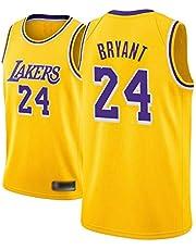 Kobe Bryant Jersey Camiseta de Baloncesto para Hombre de Los Angeles Lakers # 24 Jersey de Baloncesto Bordado de Malla Bordada,A,S