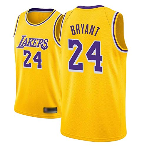 MGKMG Camiseta de Baloncesto para Hombre, NBA, Los Angeles Lakers #24 Kobe Bryant. Bordado Swingman Transpirable y Resistente al Desgaste Camiseta para Fan,A,L