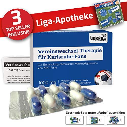 Karlsruhe Mütze ist jetzt die Liga-APOTHEKE für KSC-Fans by Ligakakao.de |Strickmütze blau-weiß Logo Emblem Männer-Größe
