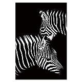 SHBKGYDL Bilder Auf Leinwand,Tiere Zebra In Den Dunklen