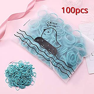 WENPINHUI 100/50PCS Girls Cute Colorful Elastic Hair Bands for Ponytail Holder Scrunchie Rubber Rope Hair Headband Accesso...