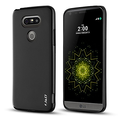 J&D Case Compatible for LG G5 Case, Drop Protection Slim Cushion Shock Resistant Protective TPU Slim Case for LG G5 Bumper Case, Black