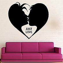 Decoración Romántica De La Pared Decoración De La Pared Del Dormitorio Amor Pareja Decoración Del Hogar Arte Mural Decorac...
