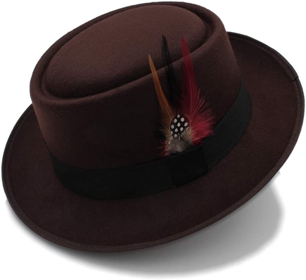 Wide Brim Round Top Cap Fedora Porkpie Pork Pie Bowler Hat Leather Band Style