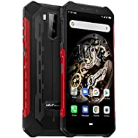 "Ulefone Armor X5, 4G Móvil Antigolpes, MTK6763 Octa-Core 3GB RAM 32GB ROM, Android 9.0 5.5 ""IP68 Impermeable Moviles Todoterreno, Dual SIM, 5000mAh Batería, Desbloqueo Facial NFC Rojo"