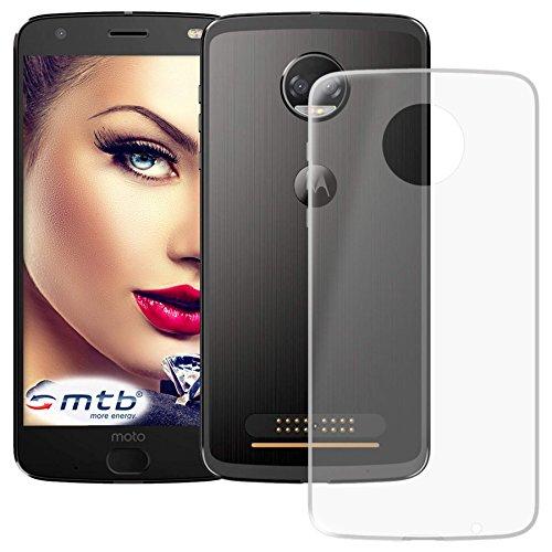 mtb more energy® Schutz-Hülle Clear und Slim für Motorola Moto Z2 Force (5.5'') - transparent - flexibel - TPU Silikon Hülle Cover Tasche